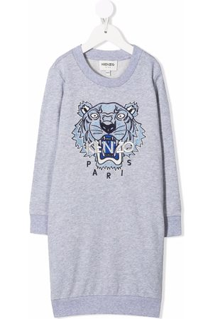 Kenzo Kids Tiger-embroidered sweater dress