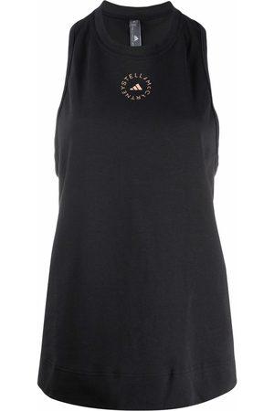 adidas by Stella McCartney Logo-print sleeveless T-shirt