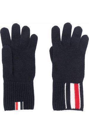 Thom Browne Homem Luvas - RWB stripe merino wool gloves