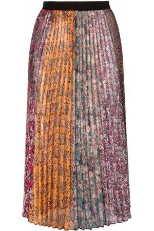 Pinko Floral-print pleated midi skirt