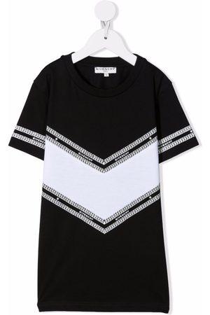 Givenchy Kids Logo-print panelled T-shirt