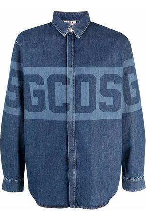 Gcds Logo-print denim shirt