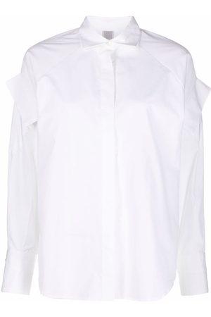Eleventy Ruffle-detail oversized shirt
