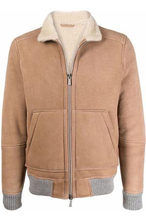 ELEVENTY Lambskin zipped jacket