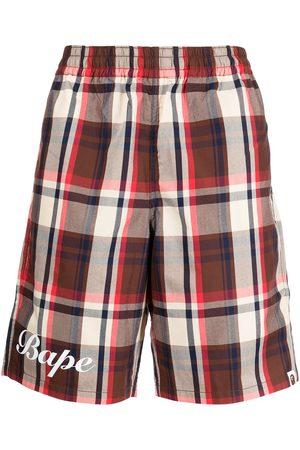 A BATHING APE® Plaid bermuda shorts