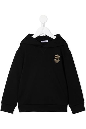 Dolce & Gabbana Kids Embroidered-logo pullover hoodie