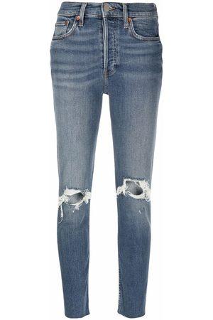 RE/DONE Dusk Destroy distressed slim jeans