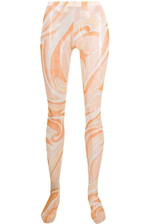 Emilio Pucci Vortici print tights