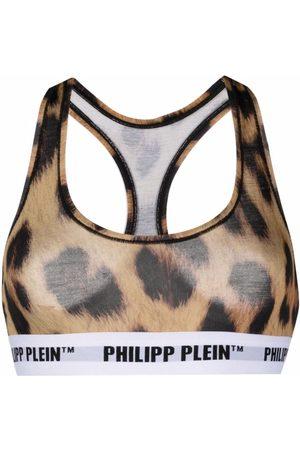 Philipp Plein Leopard print bra