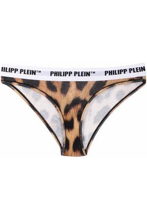 Philipp Plein Leopard slip thong