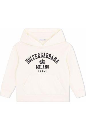 Dolce & Gabbana Kids Logo-print stretch-cotton hoodie