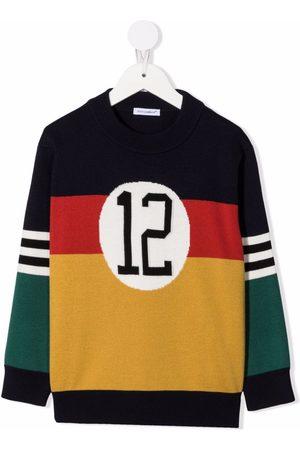 Dolce & Gabbana Kids Colour-block knitted jumper
