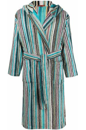 Missoni Home Jazz striped hooded bathrobe