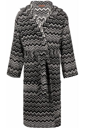 Missoni Home Roupões de Banho - Striped tie-fastening robe