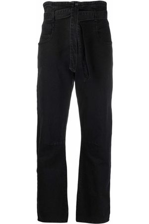 Pinko High-rise belted-waist jeans