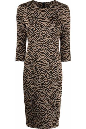 Pinko Zebra-print midi dress