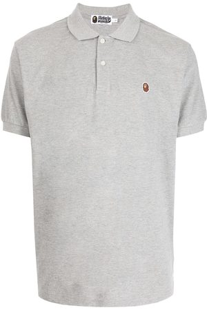 A BATHING APE® Logo-patch short-sleeved polo shirt