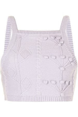 Alice McCall Songbird cropped knitted top
