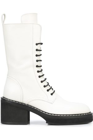 Khaite The Cody 80mm lace-up boots