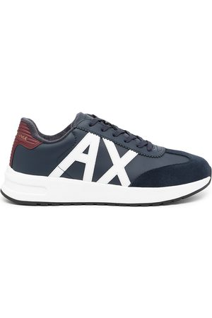 Armani Exchange Side logo-patch sneakers