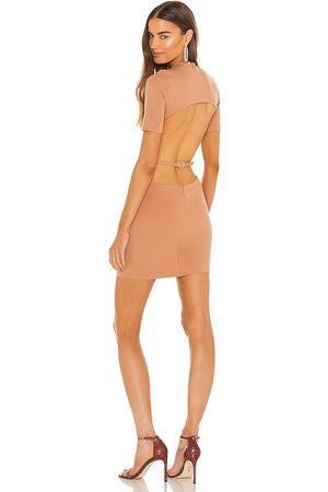 NBD Isobel Mini Dress in - Tan. Size L (also in XXS, XS, S, M, XL).