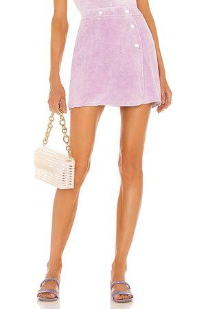 Dannijo Terry Wrap Skirt in - Purple. Size L (also in XS, S, M).