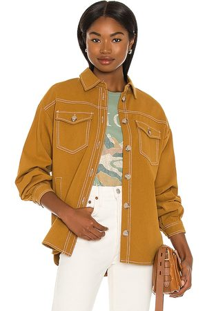 Minkpink Connections Jacket in - Tan. Size L (also in S, XS, M).
