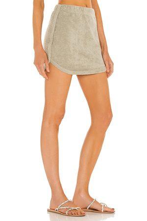 Lovers + Friends Monaco Skirt in - Sage. Size L (also in XXS, XS, S, M, XL).