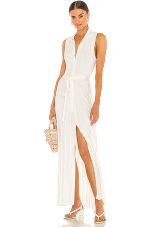 DEVON WINDSOR Ophelia Midi Dress in - White. Size L (also in XS, S, M, XL).