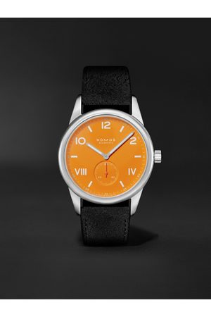 Nomos Glashütte Club Campus Hand-Wound 38mm Stainless Steel and Leather Watch, Ref. No. 729