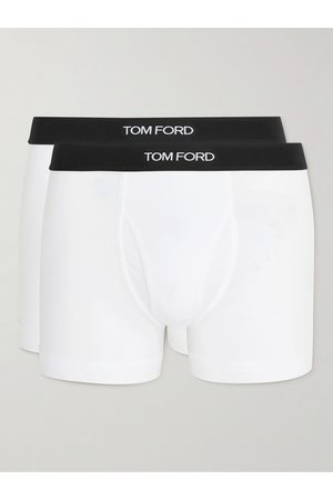 TOM FORD Homem Boxers - Two-Pack Stretch Cotton and Modal-Blend Boxer Briefs
