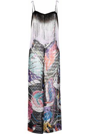 Missoni Senhora Macacões - Tasselled foliage-knit jumpsuit