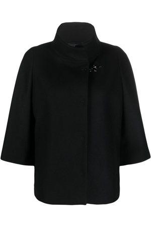 Fay Funnel-neck virgin wool-blend coat
