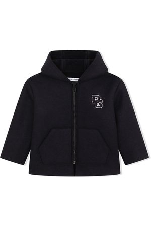 Dolce & Gabbana Kids Logo-letter zipped coat