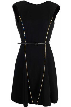 VERSACE Barroco print-trim shift dress