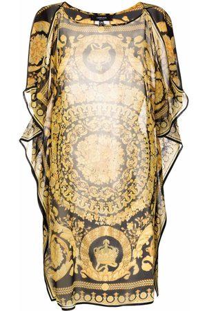 VERSACE Barocco-print silk kaftan