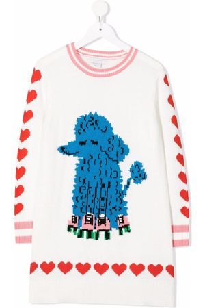 Stella McCartney Skating dog intarsia print knitted-dress