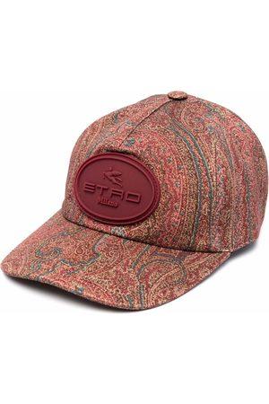 Etro Homem Chapéus - Appliqué logo paisley-print cap