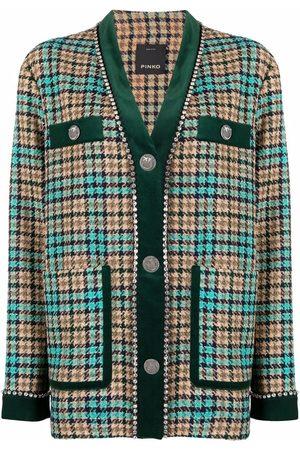 Pinko Checked single-breasted jacket