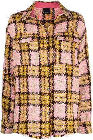 Pinko Senhora Casacos - Check-pattern oversized jacket