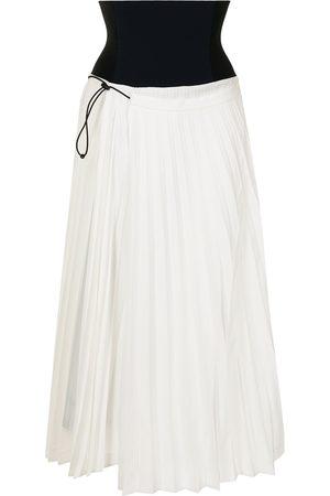 TOGA PULLA Pleated A-line midi skirt