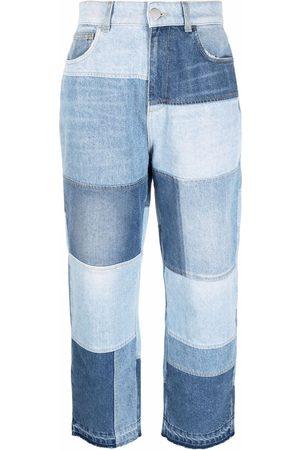 Pinko Patchwork straight-leg jeans