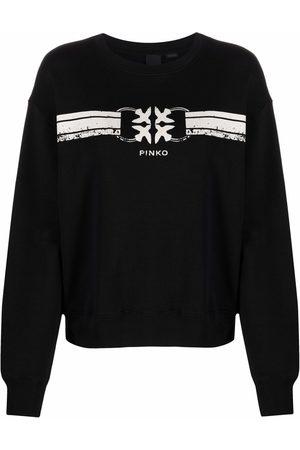 Pinko Logo-print long-sleeved sweater