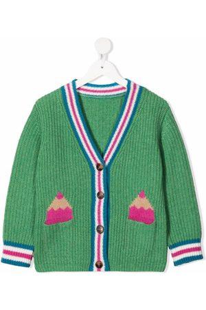 Stella McCartney Pencil-intarsia knitted cardigan