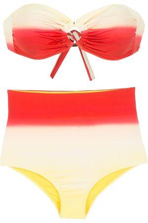 AMIR SLAMA Gradient-effect bikini set