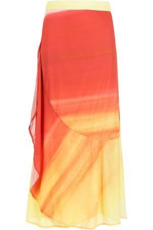 AMIR SLAMA Printed midi skirt
