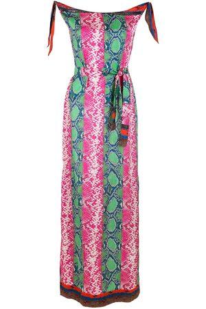 AMIR SLAMA Printed silk maxi dress