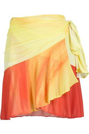 AMIR SLAMA Tie-fastening printed miniskirt