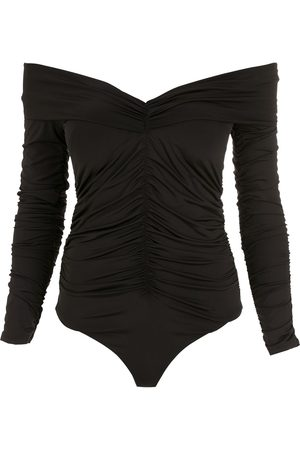 AMIR SLAMA Ruched long-sleeves bodysuit