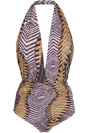 AMIR SLAMA Printed halterneck swimsuit